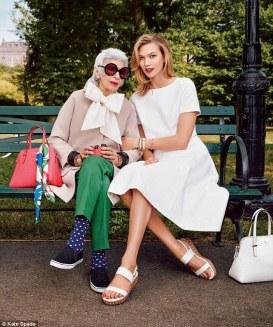 Kudos to Kade Spade New York for featuring ninety-something Iris Apfel in their spring fashion ads.