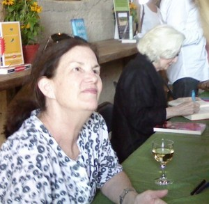 It was a special treat to have Plum Johnson (left) and Catherine Gildiner (right) sign our copies of their books.