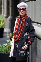 Ninety-four-year-old Iris Apfel demonstrates it's possible to be fashionable at any age by projecting your own style.