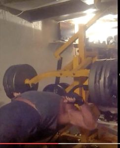 Brian Patterson bench pressing 520 pounds