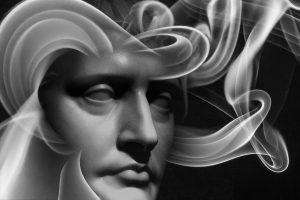 statue smoky face