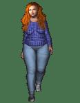 chubby cartoon woman