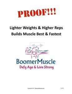 Proof!!! Lighter Weights Higher Reps