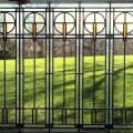 Arts and craft style window balloon motif window