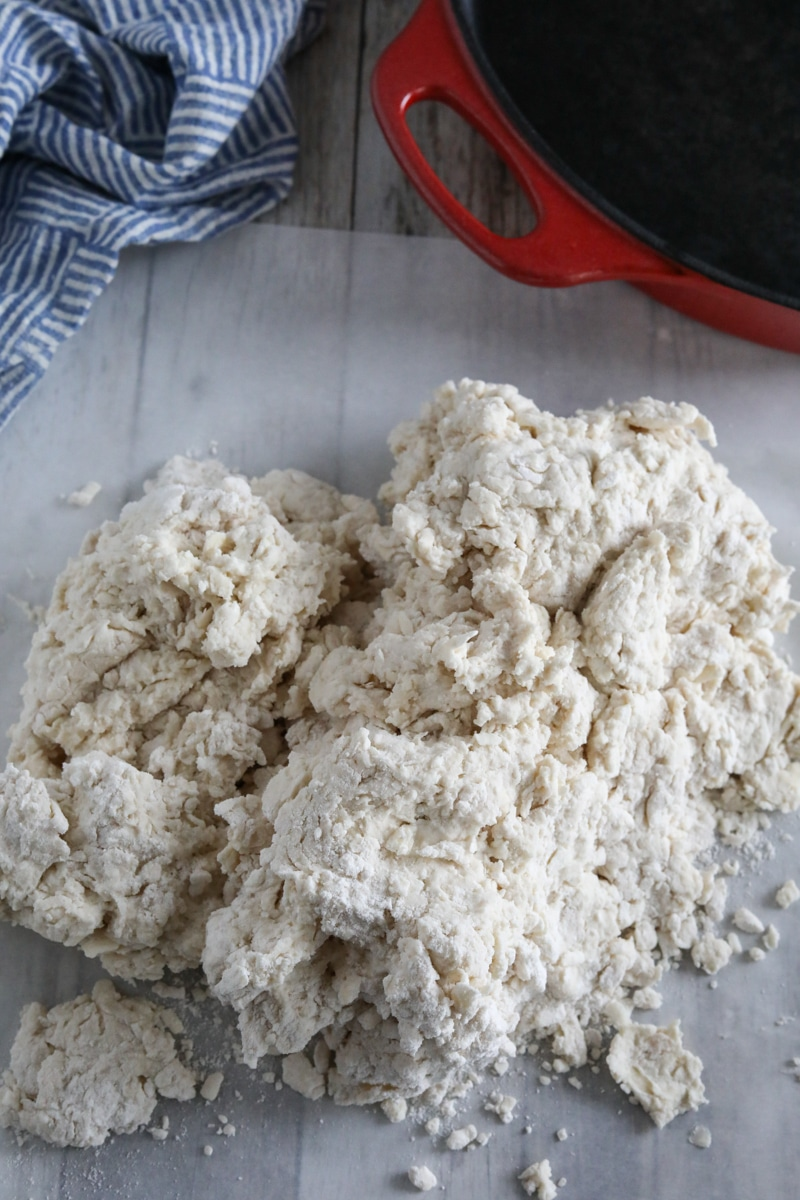 combined biscuit dough