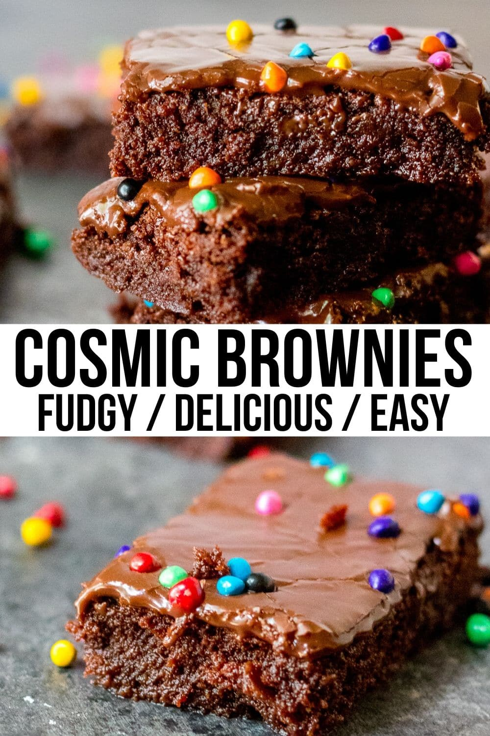collage of cosmic brownies