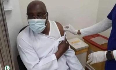 Atiku is 'first Nigerian' to receive Pfizer COVID-19 vaccine