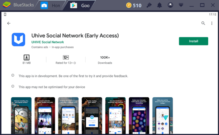 Uhive Social Network for PC