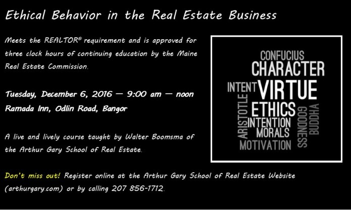 Real Estate Ethics Course Ad