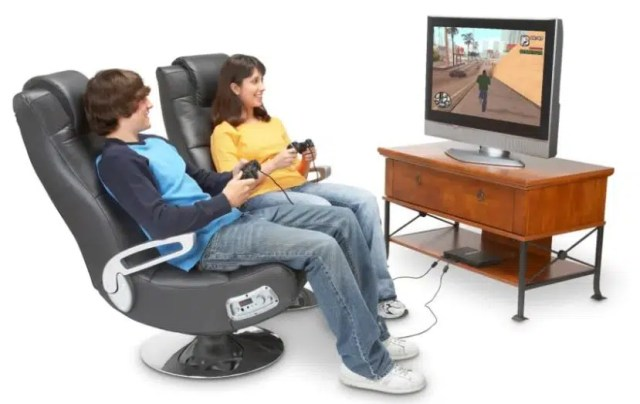 X Rocker 5127401 Pedestal Video gaming chair with speakers