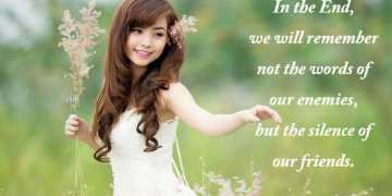 Silence of our friends - Friends Quotes