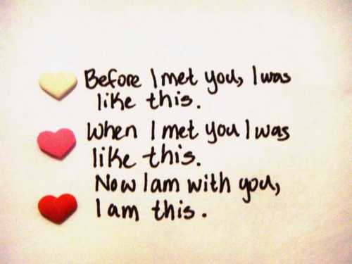 before i met you i am this beautiful love quotes boomsumo quotes - Short Love Quotes