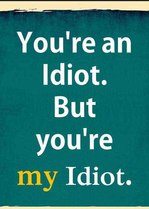 My Idiot Friend
