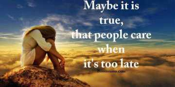 Depressed quotes - Feeling Alone, When People Care feeling alone quote