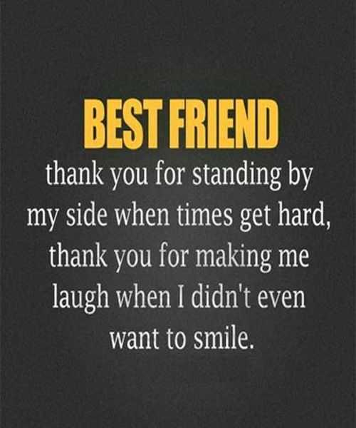 Beautiful Best Friend Forever Quotes   Best Friend Message Thank You For Standing. U201d