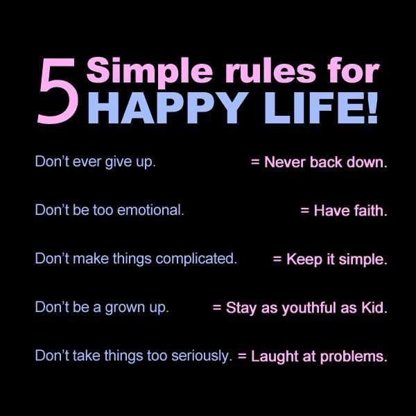 Inspirational Quotes About Life, Quote Life. 5 Simple Rules For Happy Life    BoomSumo Quotes