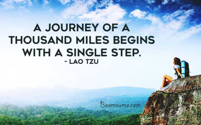 Inspirational Life Quotes Encouraging Sayings! U0027Begins Single Steps, Success  Life Quotes