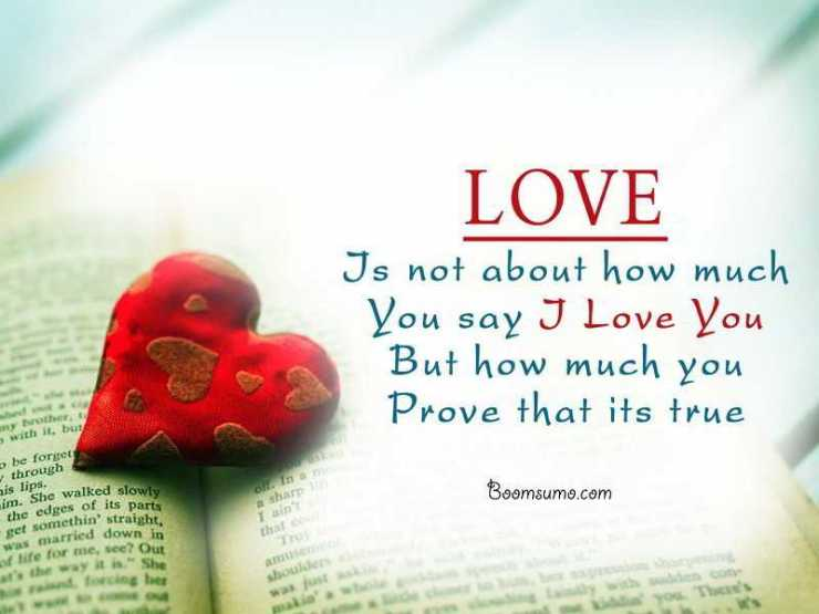 Inspirational true love quotes Did you say I love you, short love sayings Prove that