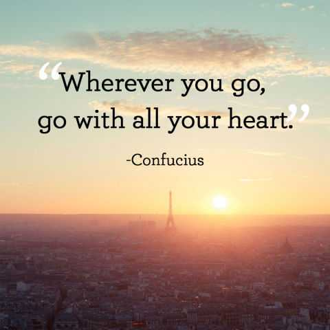 Short Inspirational Quotes 'Go with all your heart
