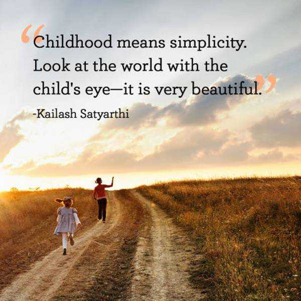 Beautiful quotes Childhood Simplicity Child's Eye Quotes About Beauty World