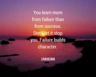 Inspirational quotes How To Learn From failure quotes about success