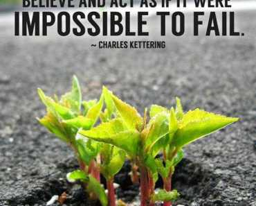 Thoughts quotes inspirational messages impossible to fail quote of the day