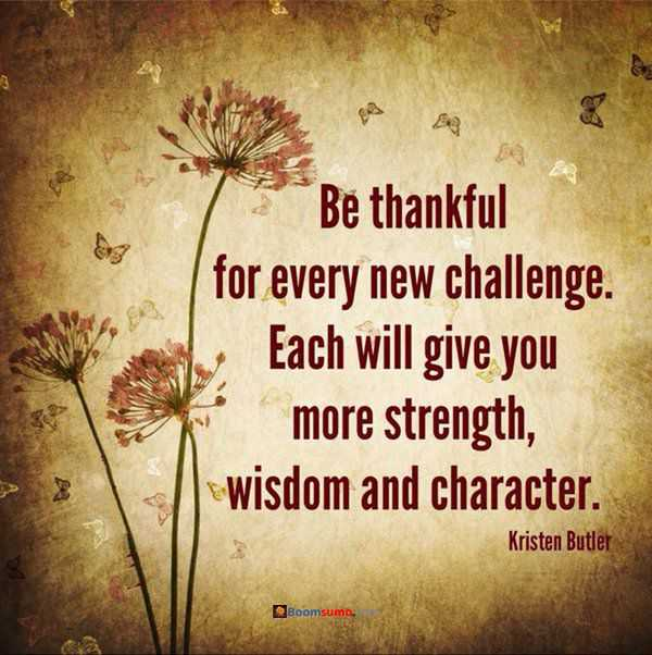 Positive Thinking Quotes 'Be Thankful Every New Challenge BoomSumo Impressive Quotes About Positive Thinking