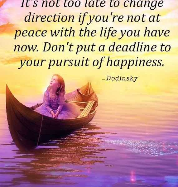 Quotes About The Pursuit Of Happiness: Inspirational Quotes Happiness: Not Too Late Don't