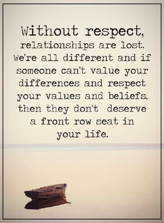 Relationship Quotes Life thoughts Without Respect ...