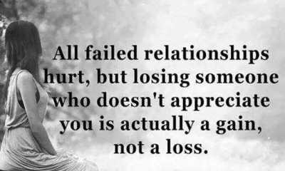 Relationships Quotes Why Failed Relationships Encourage quote about life