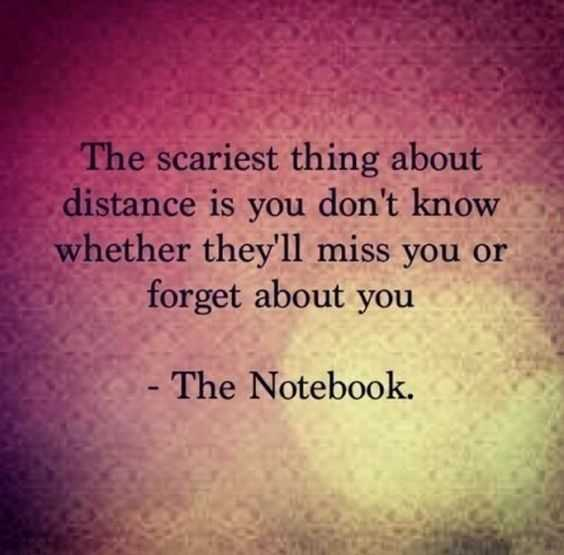 Sad Love Quotes about love The Scariest Thing Whethere They'll Miss Or Forgot