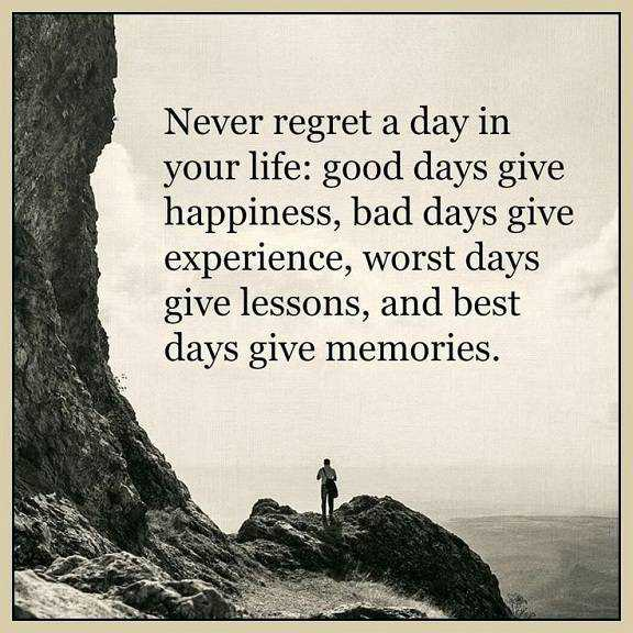 Best Quote Of The Day About Life Endearing Best Life Quotes About Happiness Never Regret Day Life Best Day