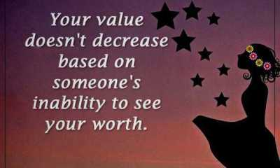 Inspirational Quotes about Positive Your Value Doesn't Decrease, Someone's Inability