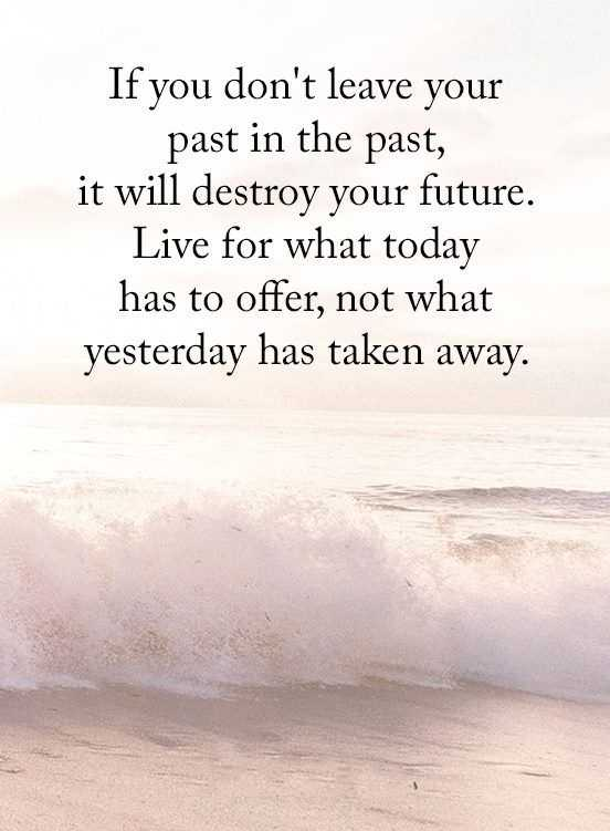 Inspirational Quotes About Life Donu0027t Leave Past In Past, Never Allow  Destroy Future