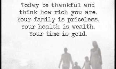 Inspirational life Quotes Today Be thankful Think How Rich you are222