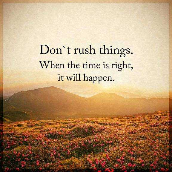 Inspirational Life Quotes About Success Dont Rush Things When