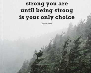 Inspirational quotes about strength Don't know How Strong You Are, Only Choice