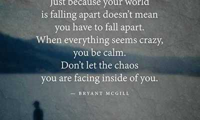 Best Life Quotes And Sayings Don't Let The Chaos Be Calm