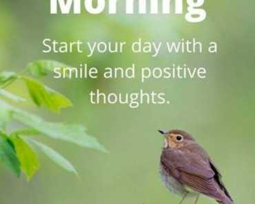 Good Morning Quotes Morning Start Your Day Smile And Positive Thoughts