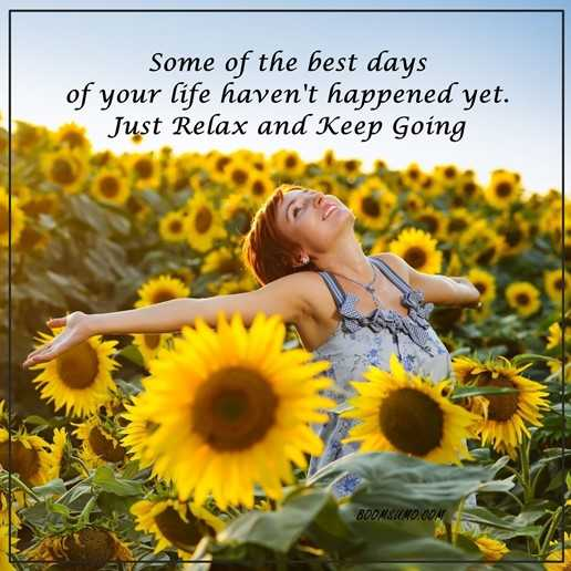 Inspirational Life Quotes: Life Sayings Just Relax Keep