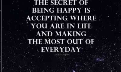 Inspirational quotes happiness life sayings The Secret of being Happy