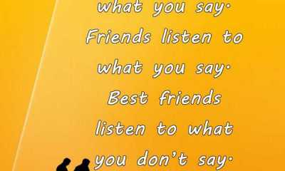Learn To Do Best Friends Listen To What You Don'T Say