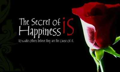 Short Quote About Happiness The Secret of Believe Happiness