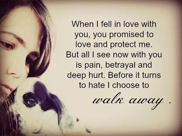 sad love Quotes Love Sayings I Choose to Walk Away, Before Hate You