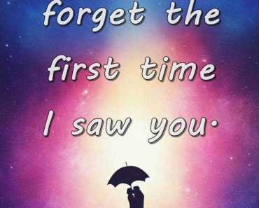 Best Love Quotes Never Forget The First Time I Saw You