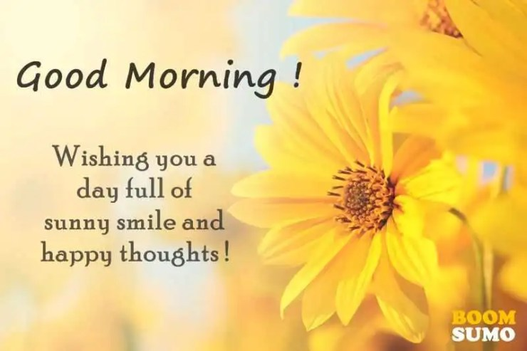 Good Morning Quotes Awesome Day Full Of Sunny Smile And Happy Thoughts