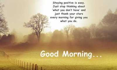 Good Morning Quotes Just Stop Thinking Stay Positive