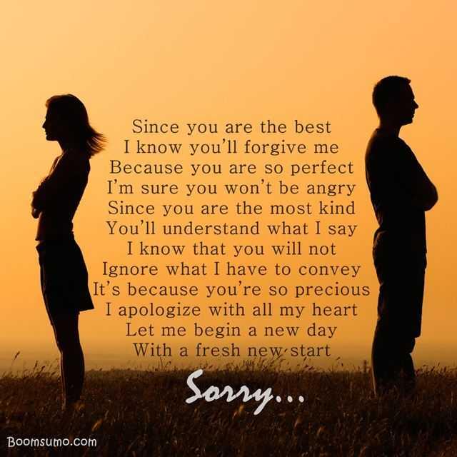 Sorry poems for boyfriend
