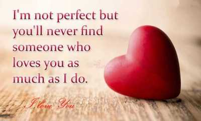 Best Love Quotes I'm Not Perfect but You'll Never Find