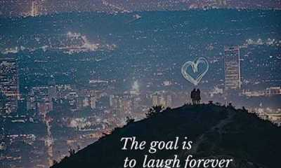 Inspirational Life Quotes The Goal is Laugh Forever